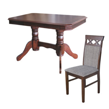 Comedor Portugal 4 Sillas Old Leather
