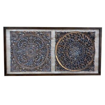 Cuadro Diptico Bombay 120 x 60 cms