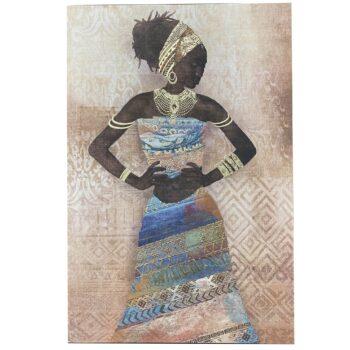 Cuadro Africana 2 Diseños 60 x 90 cms
