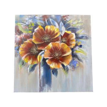 Oleo Floral B 100 x 100 cms