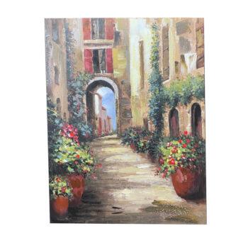 Oleo Paisaje Antigua Italia A 75 x 100 cms