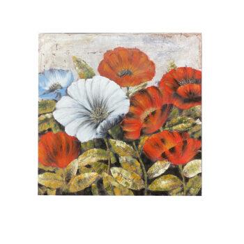 Oleo Floral C 100 x 100 cms