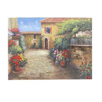 Oleo Paisaje Antigua Italia B 80 x 120 cms