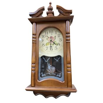 Reloj Madera Flores Modelo 2