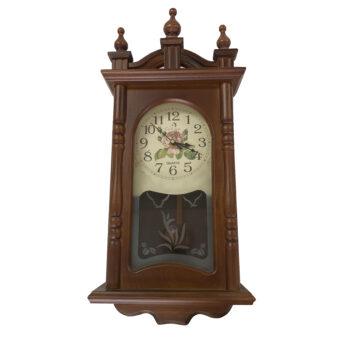 Reloj Madera Flores Modelo 1