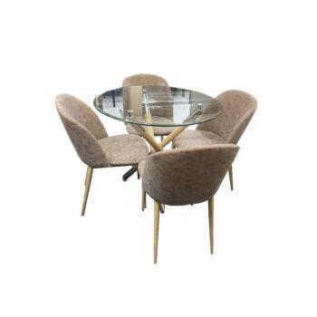 Comedor Circular Wood + Silla Vita