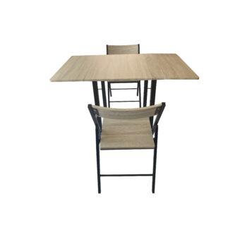 Comedor 2 sillas con extensiones laterales
